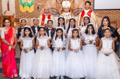 മെൽബൺ സെന്റ് മേരീസ് ക്നാനായ ഇടവകയിൽ നിന്നും 12 കുരുന്നുകൾ പ്രഥമ ദിവ്യകാരുണ്യം സ്വീകരിച്ചു